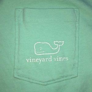 Light green/blue vineyard vines shirt!